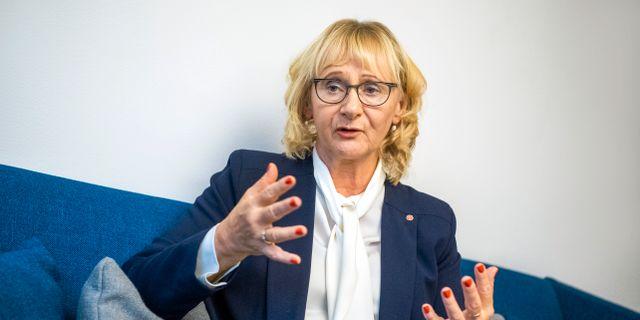 Lena Micko.  Claudio Bresciani/TT / TT NYHETSBYRÅN