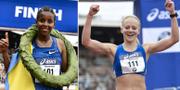 Fayesa Aberash och Mikaela Larsson. TT