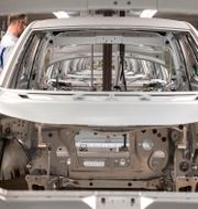 VW-fabrik i Zwickau, Tyskland. Arkivbild. Jens Meyer / TT NYHETSBYRÅN