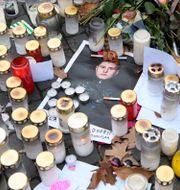 Minnesplats efter mordet på Einár. Jessica Gow / TT NYHETSBYRÅN