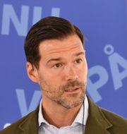 M:s rättspolitiske talesperson Johan Forssell.  Henrik Montgomery/TT / TT NYHETSBYRÅN