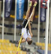 Duplantis från tävlingarna i Qatar Hussein Sayed / TT NYHETSBYRÅN