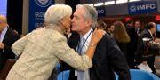 Christine Lagarde och Jerome Powell.  Mike Theiler / TT NYHETSBYRÅN