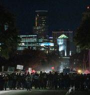 Protester i Portland efter George Floyds död. Carlos Gonzalez / TT NYHETSBYRÅN