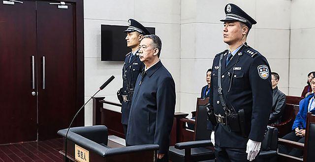 Meng i domstolen i Tianjin. HANDOUT / TIANJIN FIRST INTERMEDIATE PEOPL