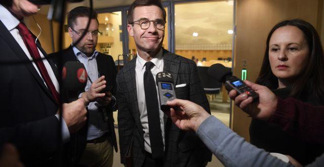 Ulf Kristersson i samband med budgetomröstningen i riksdagen. Fredrik Sandberg/TT / TT NYHETSBYRÅN