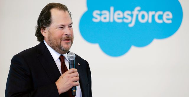 Salesforce ordförande Marc Benioff. Darron Cummings / TT NYHETSBYRÅN