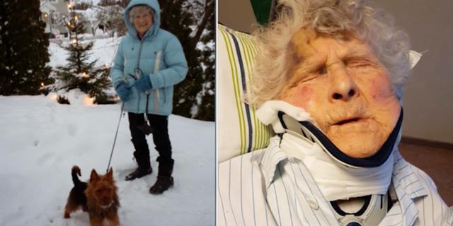 96-åriga May dog 15 dagar efter att hon hade brutit nacken. Kalla Fakta