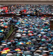 Demokratiprotester i Hongkong 2019. Vincent Yu / TT NYHETSBYRÅN/ NTB Scanpix