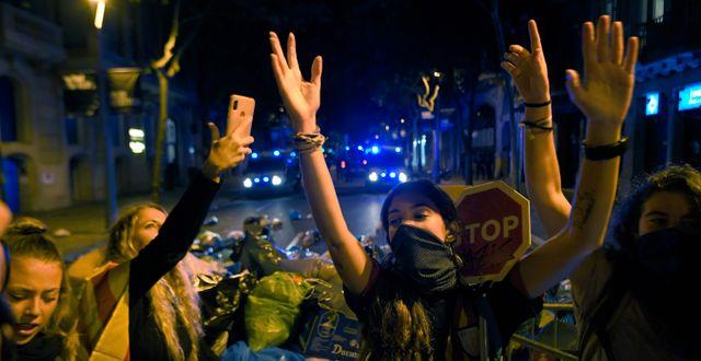 Demonstranter för självständighet.  LLUIS GENE / AFP