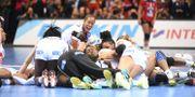 Franskt guldjubel efter VM-finalen 2017. Henrik Montgomery/TT / TT NYHETSBYRÅN