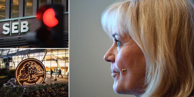 Illustrationsbild. Handelsbankens vd Carina Åkerström. TT