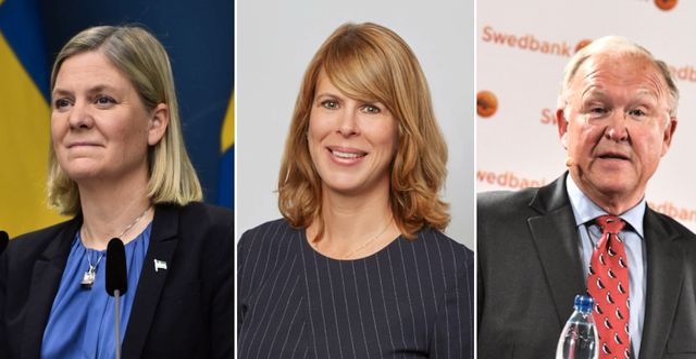 Magdalena Andersson, Kristin Magnusson Bernard och Göran Persson. TT