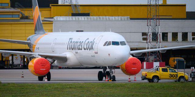 Ett Thomas Cook-flygplan. Johan Nilsson/TT / TT NYHETSBYRÅN