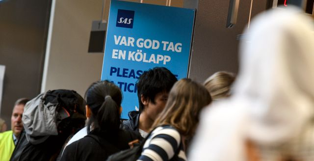 Illustrationsbild. SAS-passagerare. Johan Nilsson/TT / TT NYHETSBYRÅN