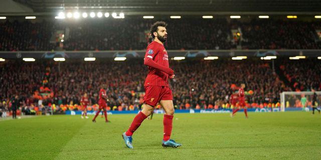 Liverpools Mohamed Salah.  Jon Super / TT NYHETSBYRÅN