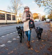 Unni Drougge med hundarna/Arkivbild Simon Rehnström/SvD/TT / TT NYHETSBYRÅN