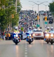 Tusentals människor deltog i marschen Geoff Robins / TT NYHETSBYRÅN