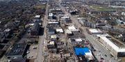 Tornadon ödelade ett stort område i östra Nashville DRONE BASE / TT NYHETSBYRÅN