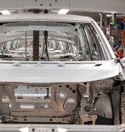 Arkivbild: En VW-fabrik i tyska Zwickau. Jens Meyer / TT NYHETSBYRÅN