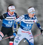 Ebba, till höger.  Gian Ehrenzeller / TT NYHETSBYRÅN