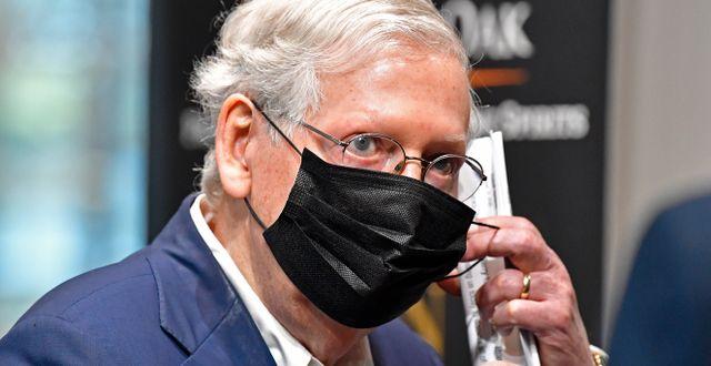 Senatens majoritetsledare Mitch McConnell. Arkivbild. Timothy D. Easley / TT NYHETSBYRÅN