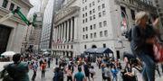 Illustrationsbild. Wall Street.  Frank Franklin II / TT NYHETSBYRÅN