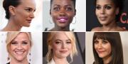 Natalie Portman, Lupita Nyong'o, Kerry Washington, Reese Witherspoon, Emma Stone och Rashida Jones. TT