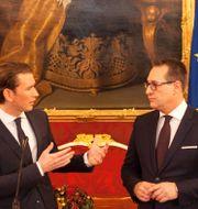 Sebastian Kurz och Heinz-Christian Strache. ALEX HALADA / AFP