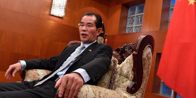 Kinas ambassadör i Sverige, Gui Congyou. TT NEWS AGENCY / TT NYHETSBYRÅN