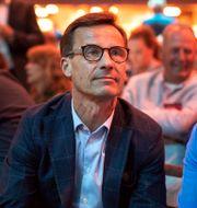 Moderaternas partiledare Ulf Kristersson och partiets ekonomisk-politiska talesperson  Thomas Johansson/TT / TT NYHETSBYRÅN