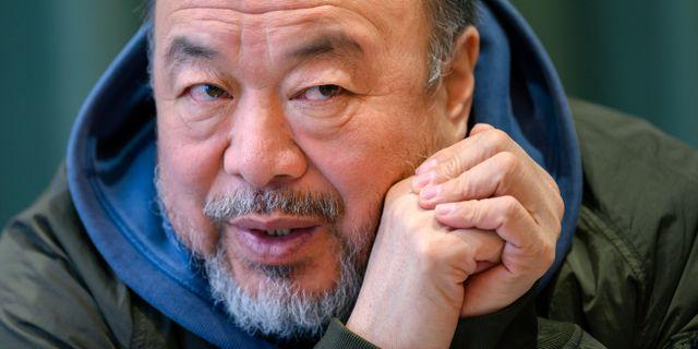 Ai Weiwei under ett Sverigebesök i mars. Johan Nilsson/TT / TT NYHETSBYRÅN