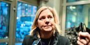 Finansminister Magdalena Andersson på väg in till mötet Karin Wesslen/TT / TT NYHETSBYRÅN