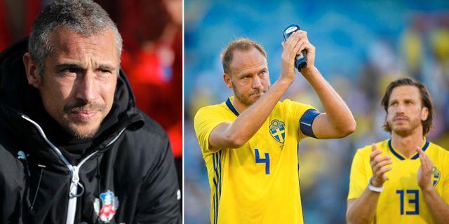 Larsson och landslaget.  TT.