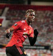 Manchester Uniteds Paul Pogba firar mål. Jon Super / TT NYHETSBYRÅN