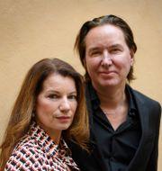 Alexandra Coelho Ahndoril och Alexander Ahndoril, paret bakom Lars Kepler. Jessica Gow/TT / TT NYHETSBYRÅN