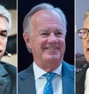 Ola Rollén, Stefan Persson och Börje Ekholm. TT