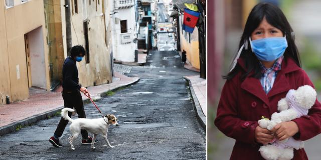Bild från Quito.  TT