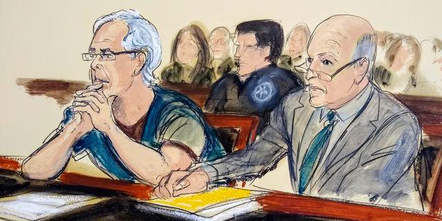Jeffrey Epstein till vänster. Elizabeth Williams / TT NYHETSBYRÅN/ NTB Scanpix