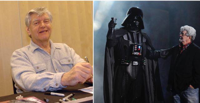 Prowse, Star Wars-regissören George Lucas med Vader TT