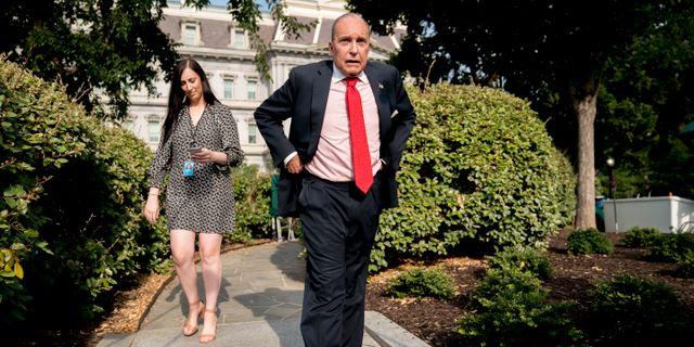 Vita husets ekonomiske rådgivare Larry Kudlow. Andrew Harnik / TT / NTB Scanpix