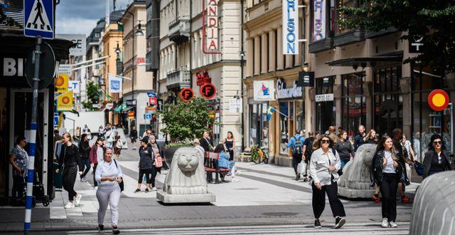 Drottninggatan i Stockholm.  Erik Simander/TT / TT NYHETSBYRÅN