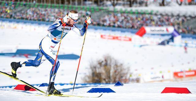 Oskar Svensson under dagens tävlingar. JOHANNA LUNDBERG / BILDBYRÅN