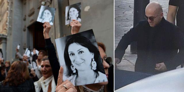 Bilder på Daphne Caruana Galizia/Yorgen Fenech. TT
