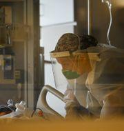 En iva-sjuksköterska i Minnesota i USA.  Aaron Lavinsky / TT NYHETSBYRÅN