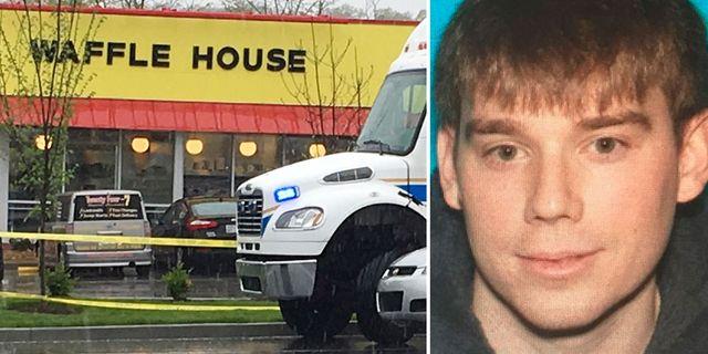 Travis Reinking misstänks för dödsskjutningen på Waffle House i Nashville.  TT