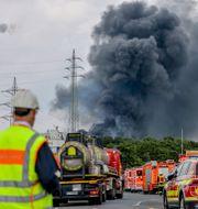 Explosionen inträffade på tisdagsmorgonen.  Oliver Berg / TT NYHETSBYRÅN