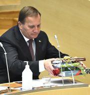 Löfven avtackas i riksdagen Claudio Bresciani/TT / TT NYHETSBYRÅN