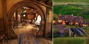 Gröna kullar, runda dörrar och kall öl – allt finns i Sagan om ringen-land. The Green Dragon Inn