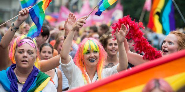Bild från Stockholm Pride 2016. Erik Nylander/TT / TT NYHETSBYRÅN